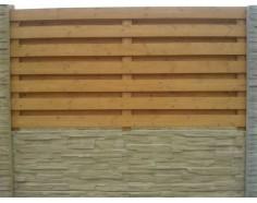 """Dřevěná výplň 2x1m """"Cik cak"""" vodorovná"""