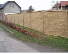 Betonový plot 11 Dekor Plus jednostranný pískový