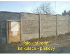 Betonový plot 11 Prima Plus oboustranný pískový