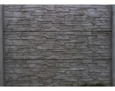 Betonový plot 13 jednostranný přírodní
