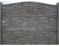 Betonový plot 14 jednostranný přírodní