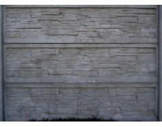 Betonový plot 15 jednostranný přírodní