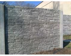 Betonový plot 17 jednostranný přírodní