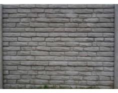 Betonový plot 19 jednostranný přírodní