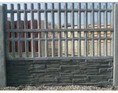 Betonový plot 21 jednostranný přírodní