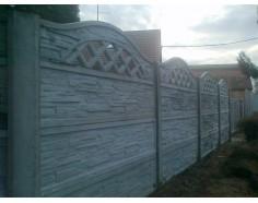 Betonový plot 23 jednostranný přírodní
