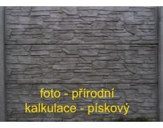 Betonový plot 13 jednostranný pískový