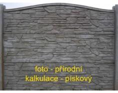 Betonový plot 14 jednostranný pískový