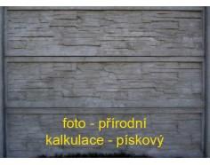 Betonový plot 15 jednostranný pískový