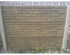 Betonový plot 19 jednostranný pískový