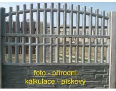 Betonový plot 22 jednostranný pískový