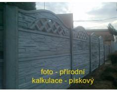 Betonový plot 23 jednostranný pískový