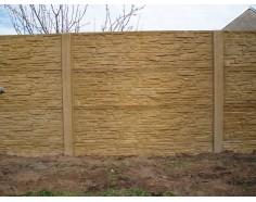 Betonový plot 17 Prima oboustranný pískový
