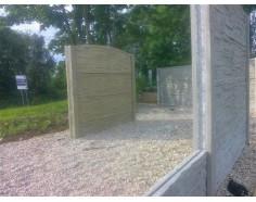 Betonový plot 11 Silný oboustranný pískový