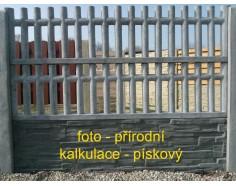 Betonový plot 21 jednostranný pískový