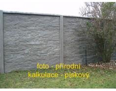 Betonový plot 17 Prima Plus oboustranný pískový