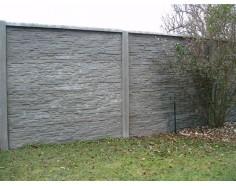 Betonový plot 17 Plus oboustranný přírodní