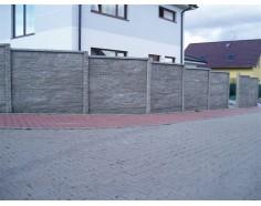 Betonový plot 17 Dekor Plus jednostranný přírodní