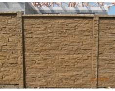 Betonový plot 17 Dekor Plus jednostranný pískový