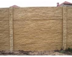 Betonový plot 17 Dekor jednostranný pískový