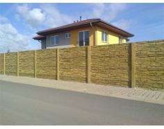 Betonový plot 11 jednostranný pískový