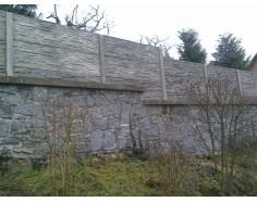 Betonový plot 11 Prima oboustranný přírodní